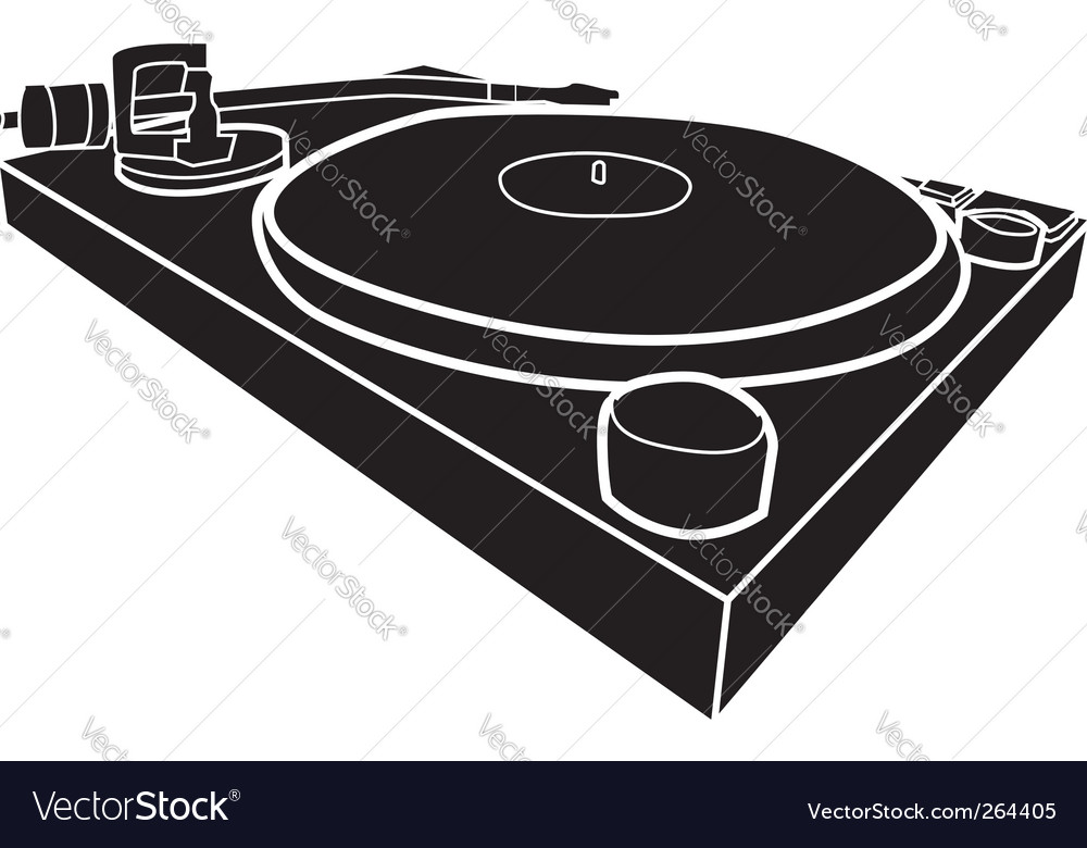 Dj decks vector | Price: 1 Credit (USD $1)