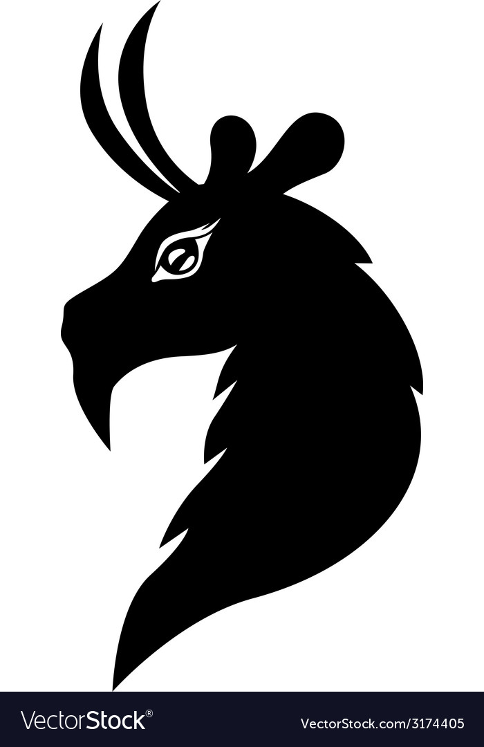 Goat symbol vector | Price: 1 Credit (USD $1)