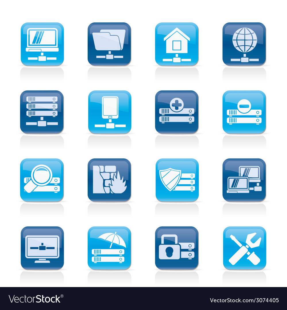 Hosting and internet icons vector | Price: 1 Credit (USD $1)