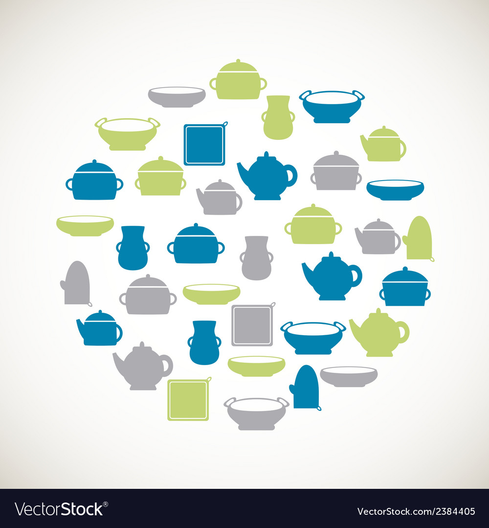 Kitchen colorful icons vector | Price: 1 Credit (USD $1)
