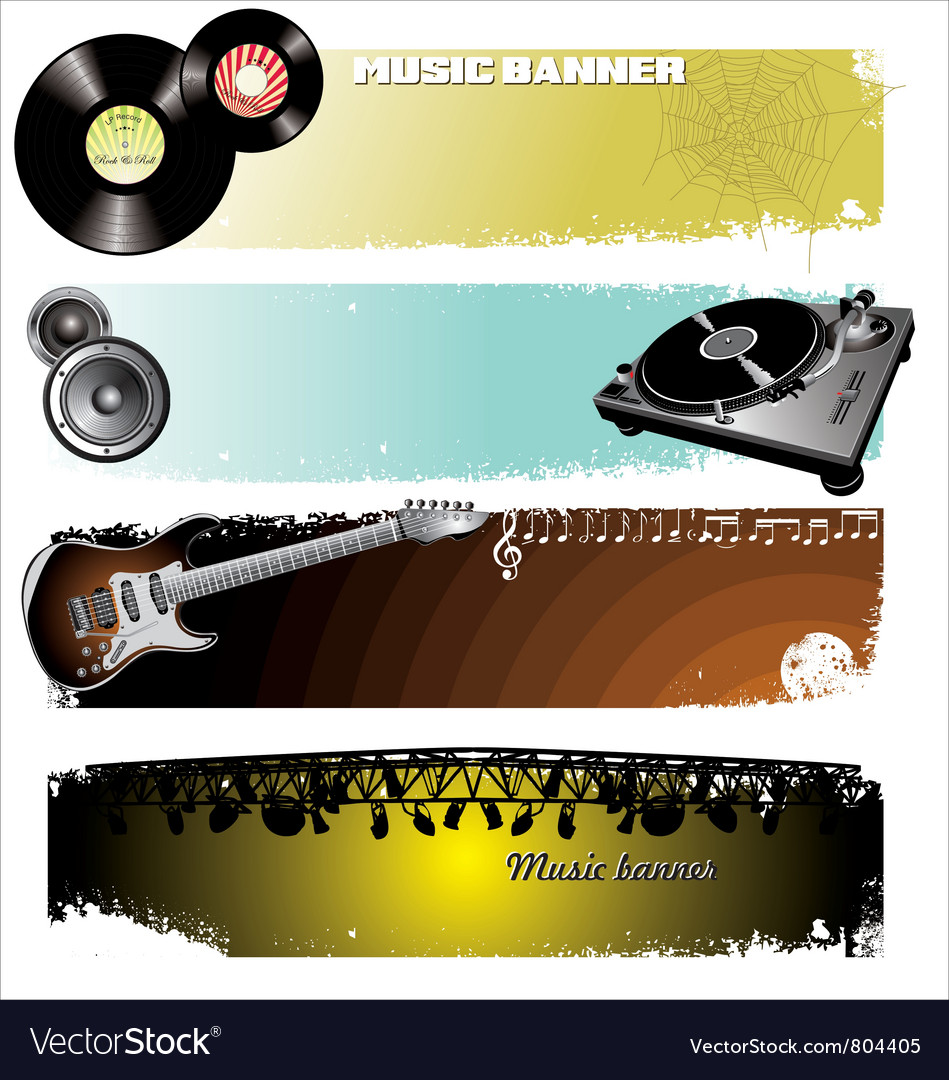 Music banners vector   Price: 3 Credit (USD $3)