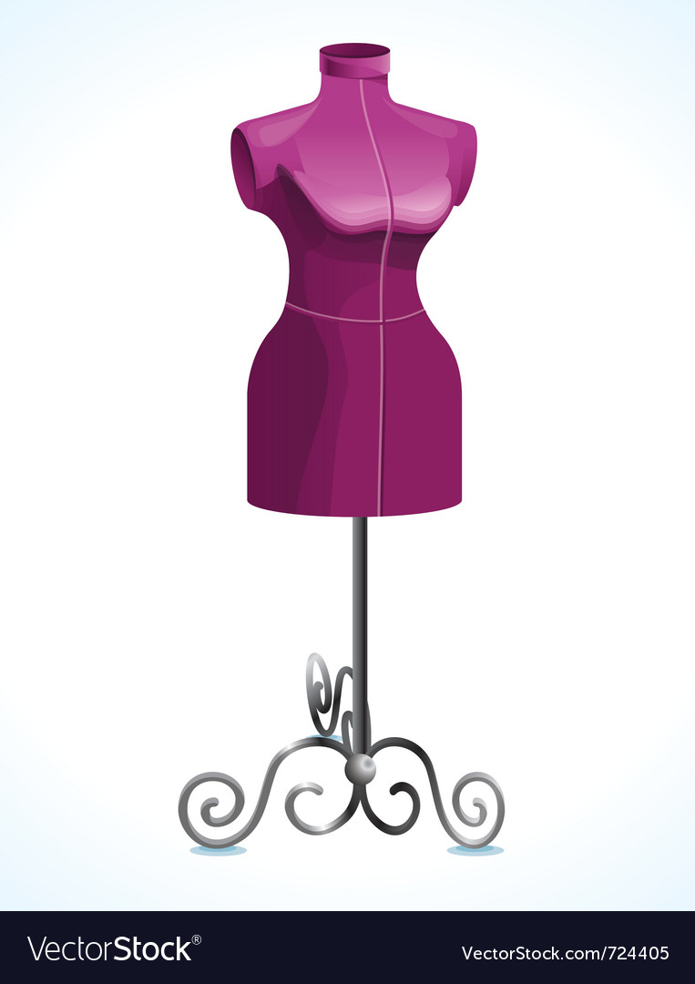 Purple female mannequin - vector | Price: 1 Credit (USD $1)