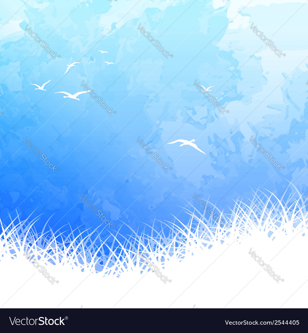 Sky bird silhouette watercolor vector | Price: 1 Credit (USD $1)