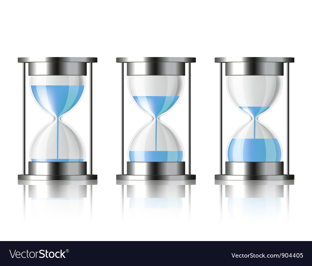 Water falling in the hourglass vector | Price: 3 Credit (USD $3)