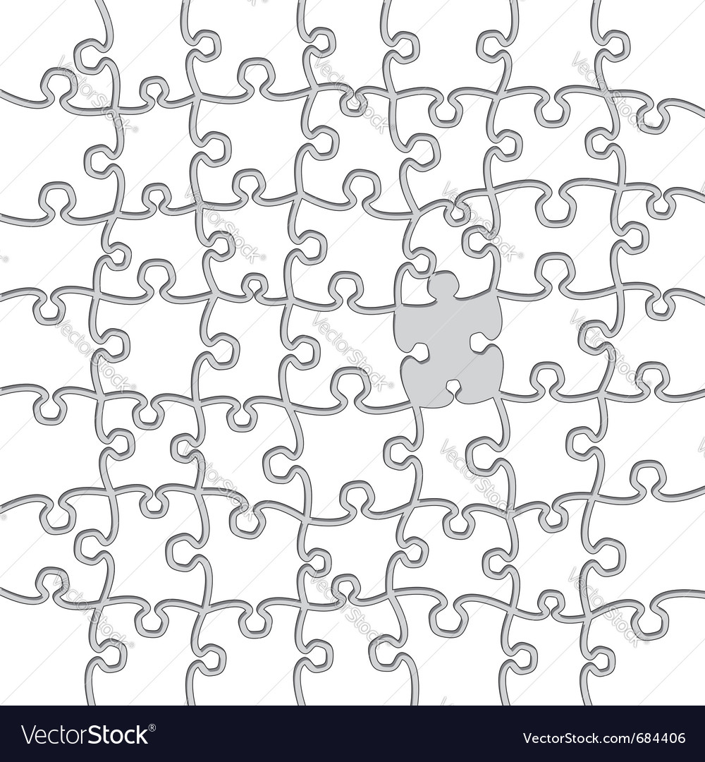 Blank jigsaw puzzles vector | Price: 1 Credit (USD $1)