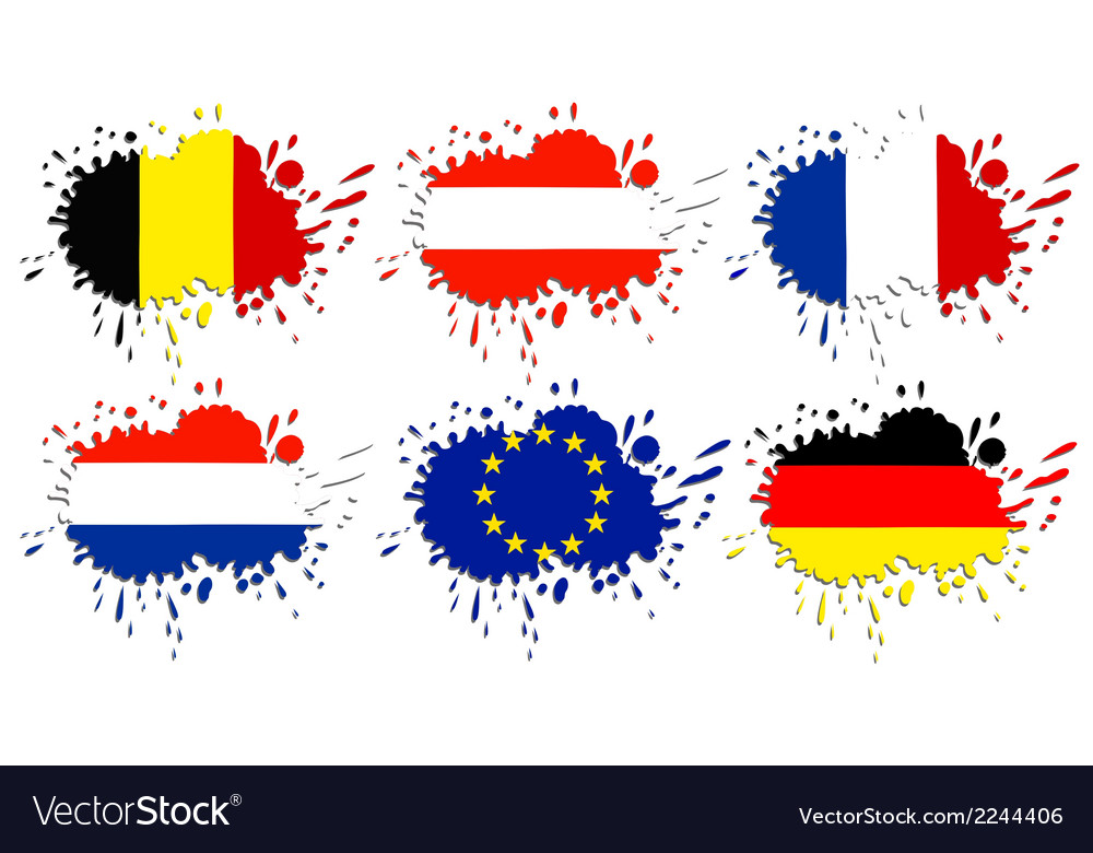 Flags of europe as spots vector | Price: 1 Credit (USD $1)