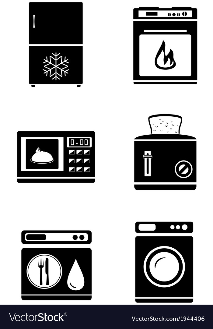 Home appliances icons vector | Price: 1 Credit (USD $1)