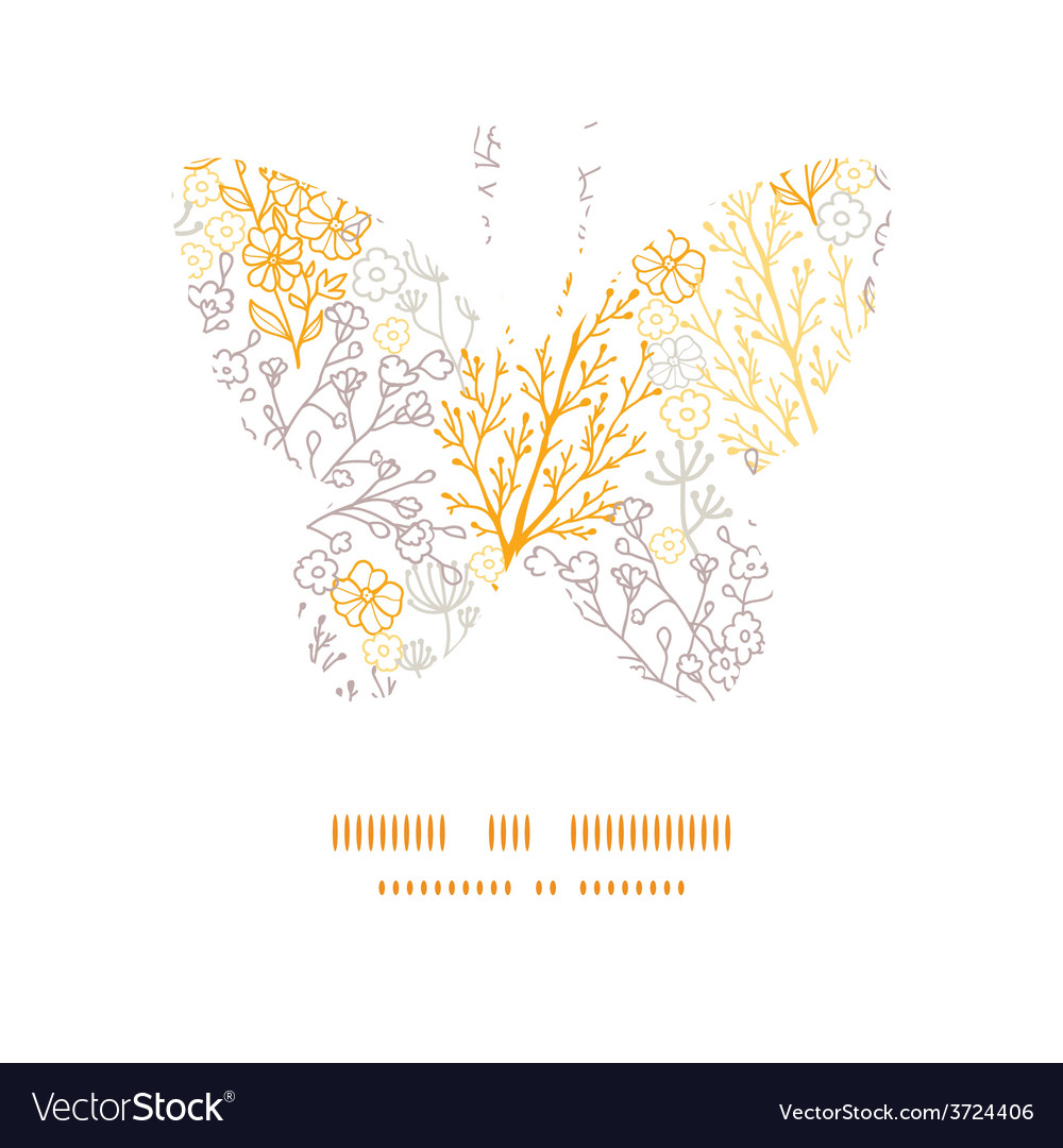 Magical floral butterfly silhouette pattern vector | Price: 1 Credit (USD $1)