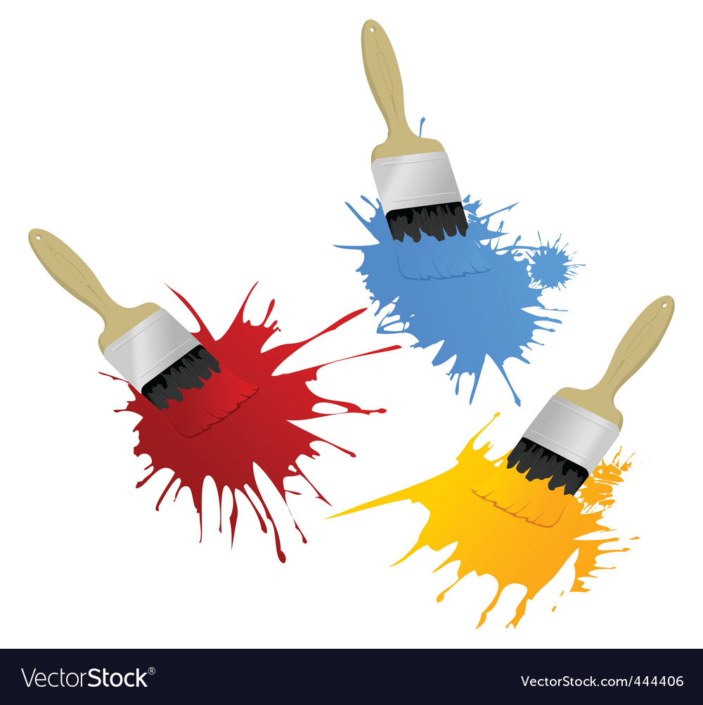 Paint and brush vector | Price: 1 Credit (USD $1)