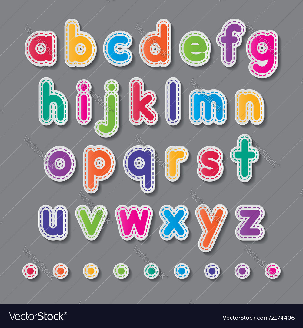 Paper small letters vector | Price: 1 Credit (USD $1)