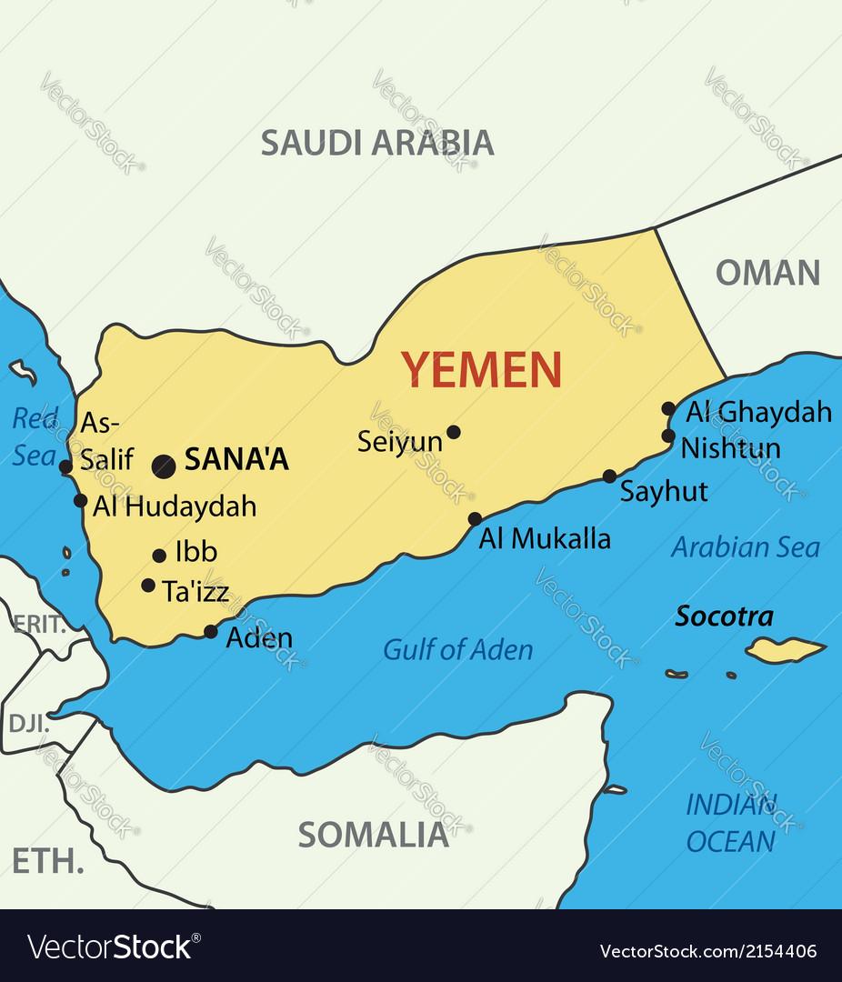Republic of yemen - map vector | Price: 1 Credit (USD $1)