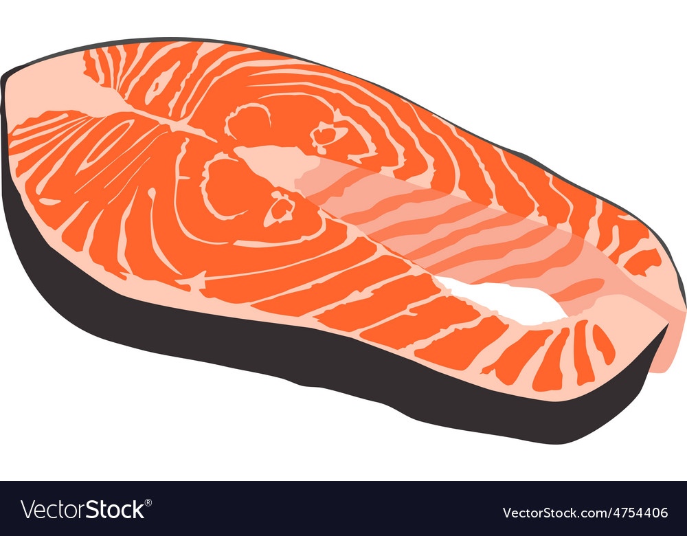Salmon steak vector | Price: 1 Credit (USD $1)