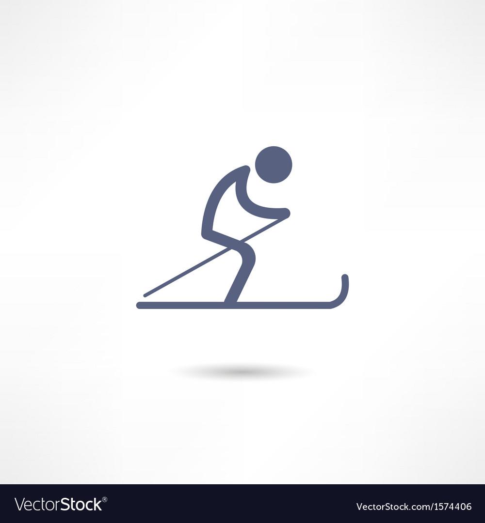 Skier icon vector | Price: 1 Credit (USD $1)