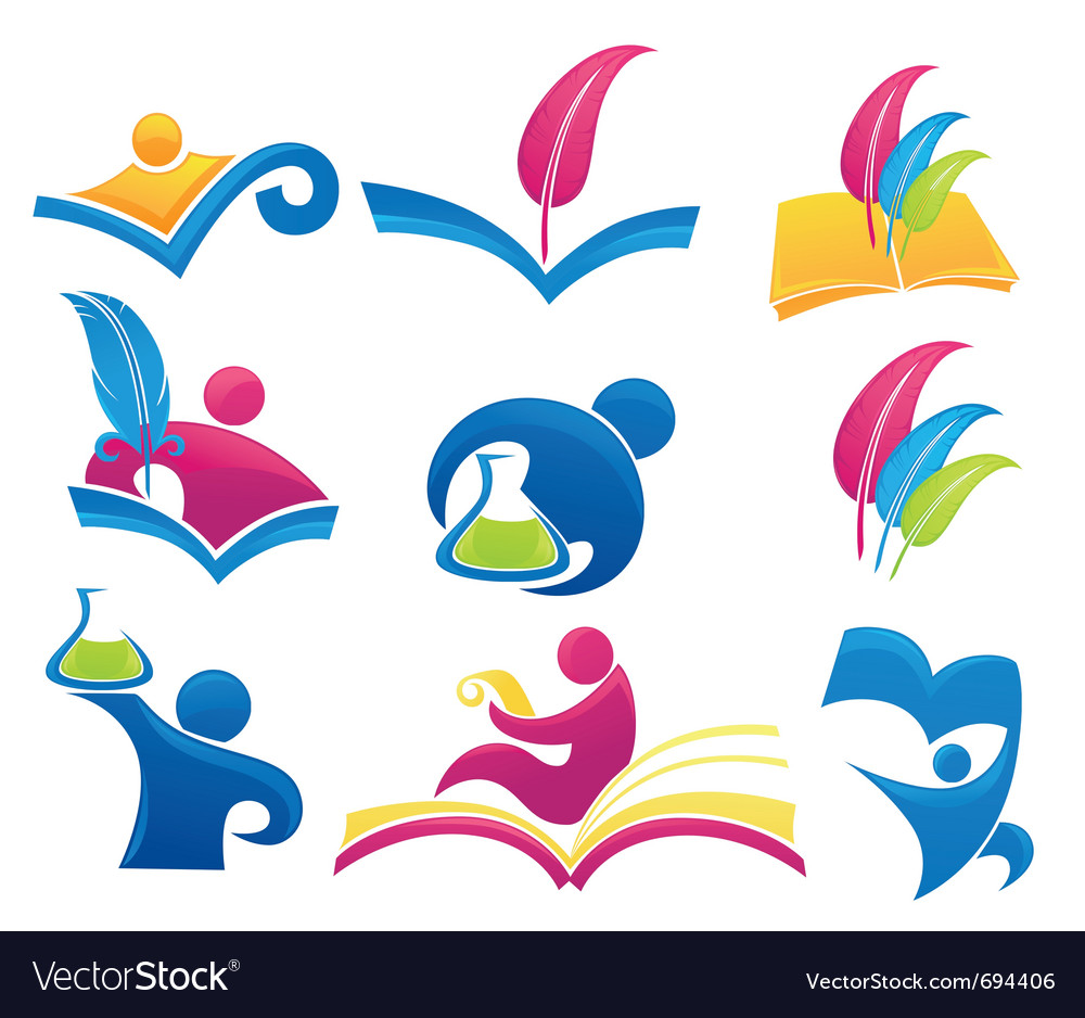 Symbols of education vector | Price: 1 Credit (USD $1)
