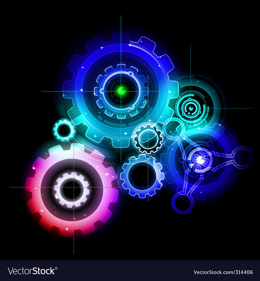 Techno gears vector | Price: 3 Credit (USD $3)