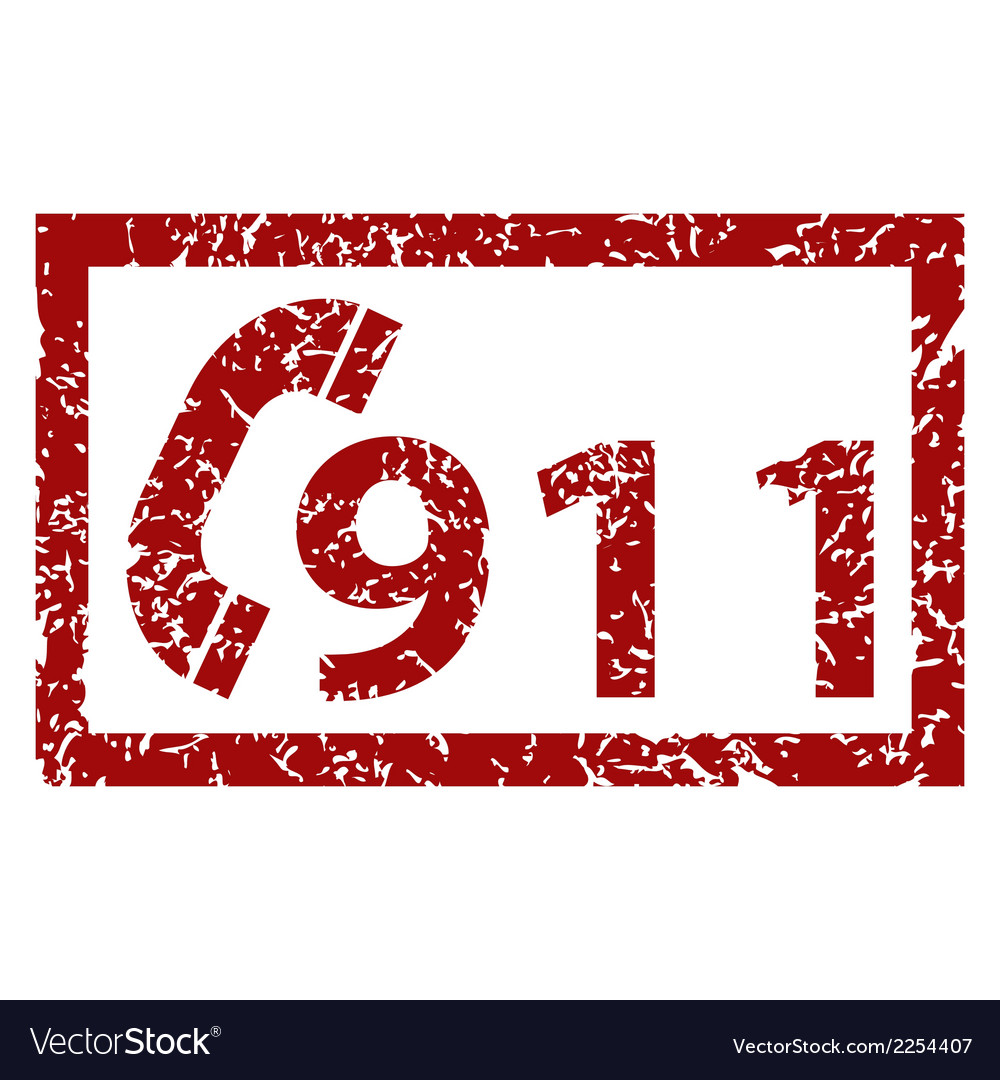 911 emergency grunge icon vector | Price: 1 Credit (USD $1)