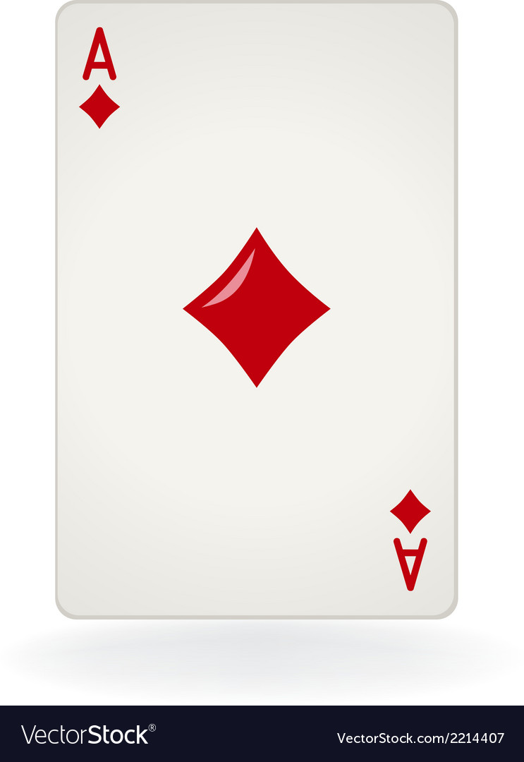Ace of diamonds vector | Price: 1 Credit (USD $1)