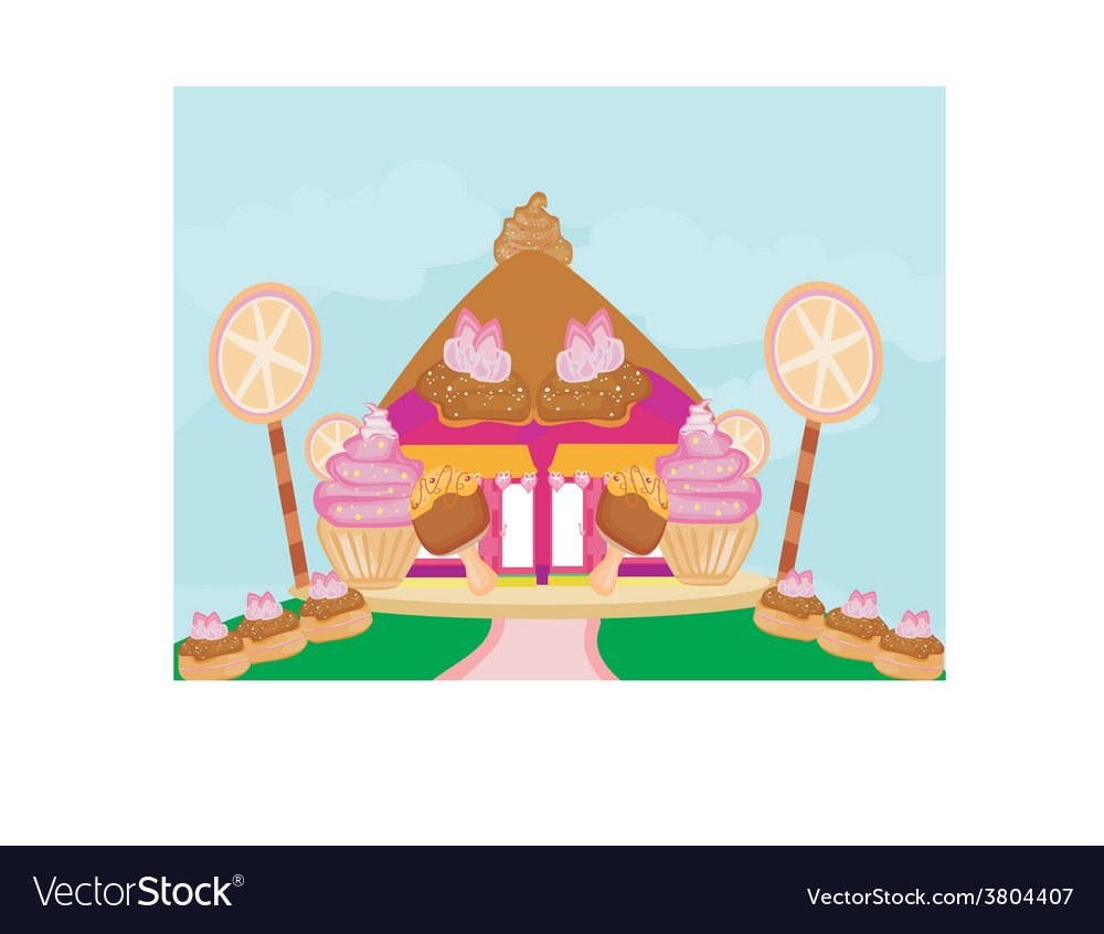 Candy house vector | Price: 1 Credit (USD $1)