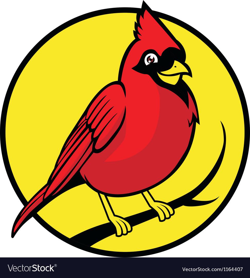 Cardinal bird vector | Price: 1 Credit (USD $1)
