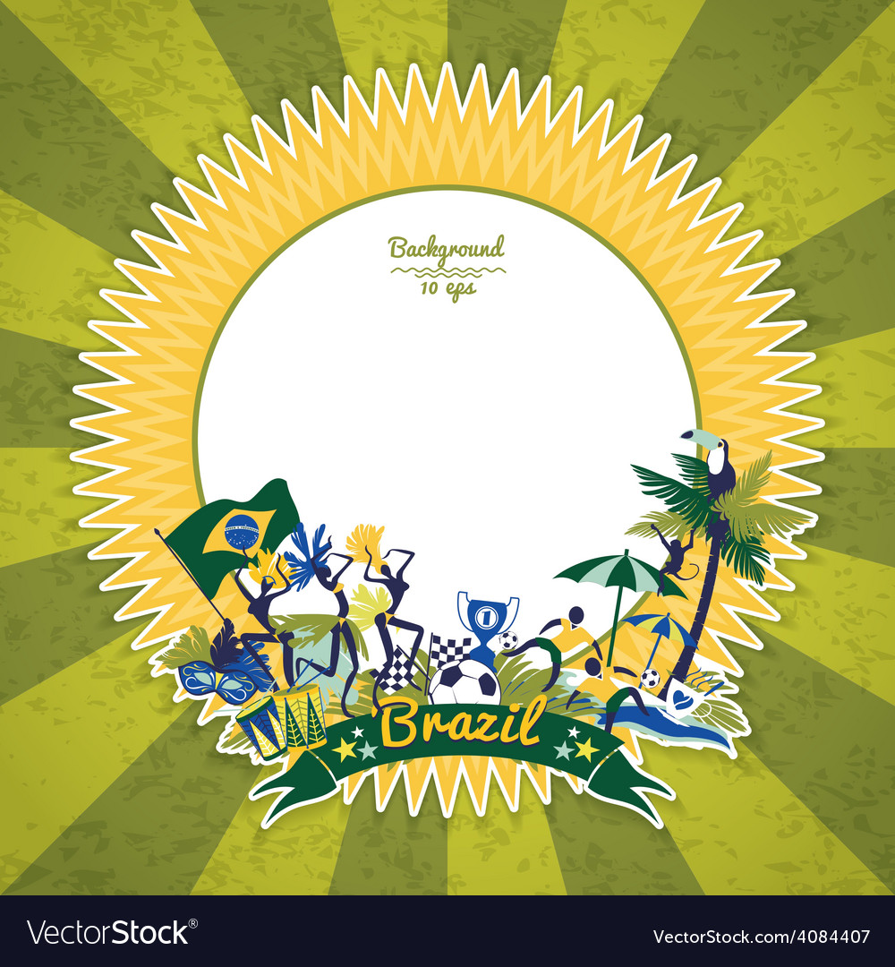 Frame with traditional brazilian theme vector | Price: 3 Credit (USD $3)
