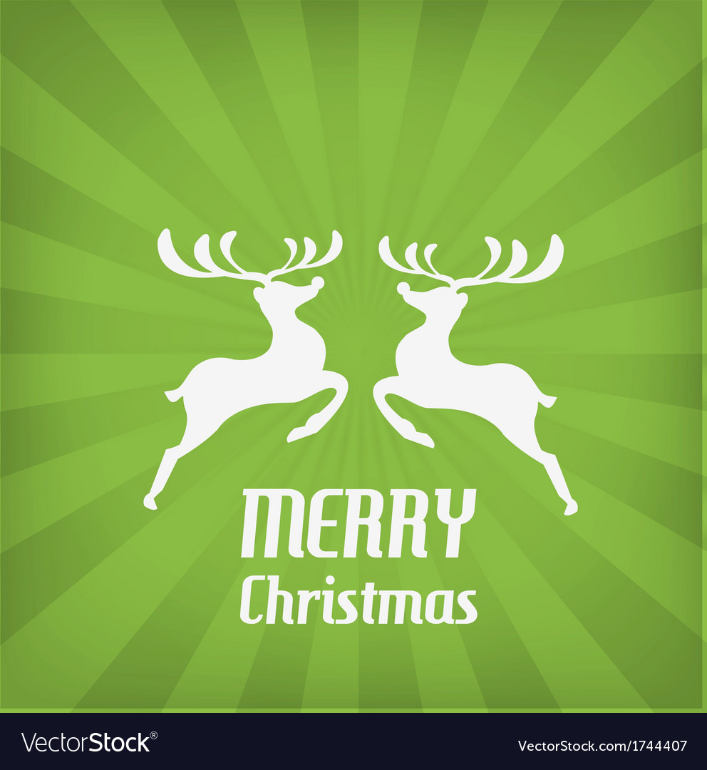 Reindeer christmas icon vector | Price: 1 Credit (USD $1)