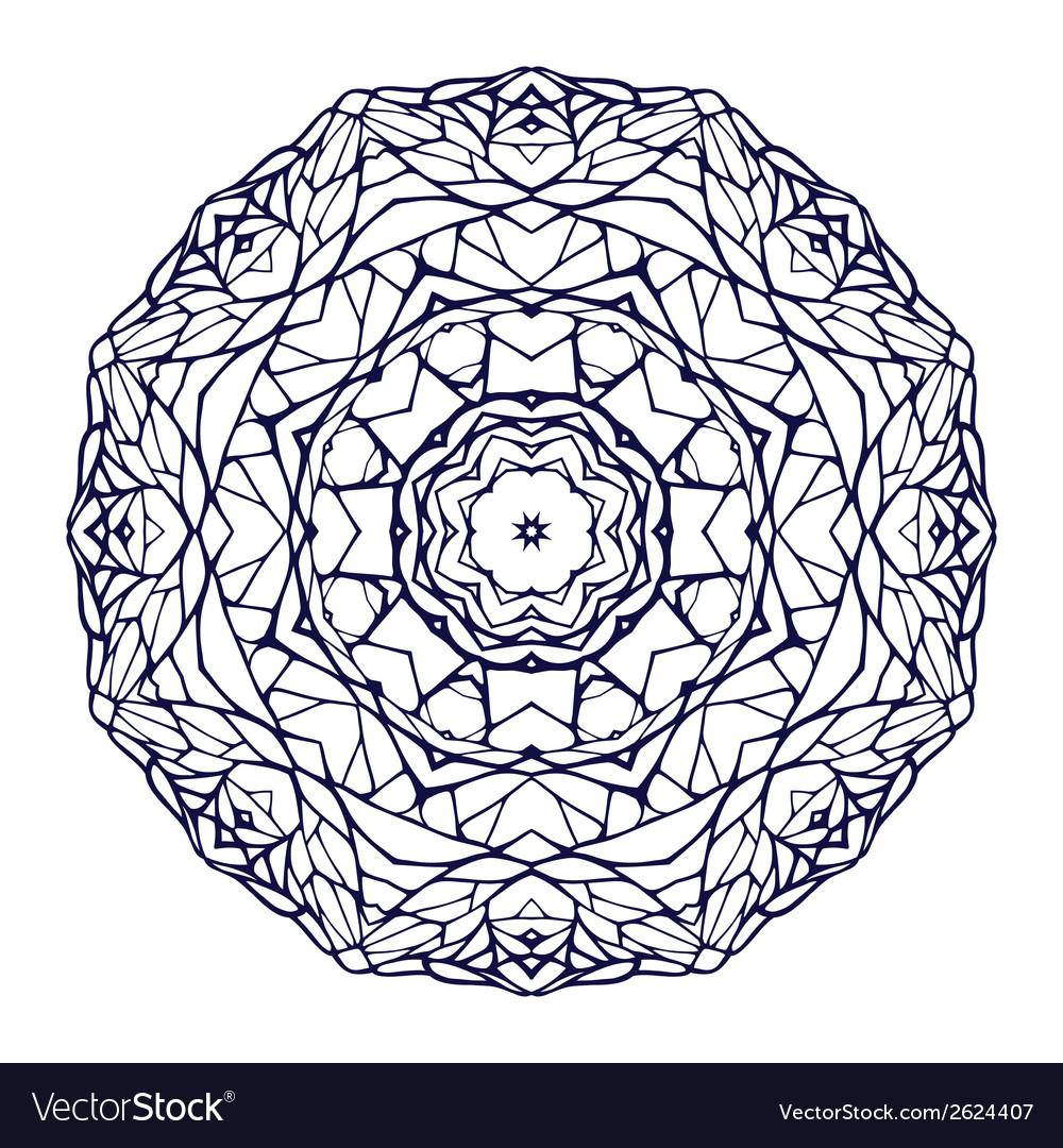 Round kaleidoscopic lace ornamental mandala vector | Price: 1 Credit (USD $1)