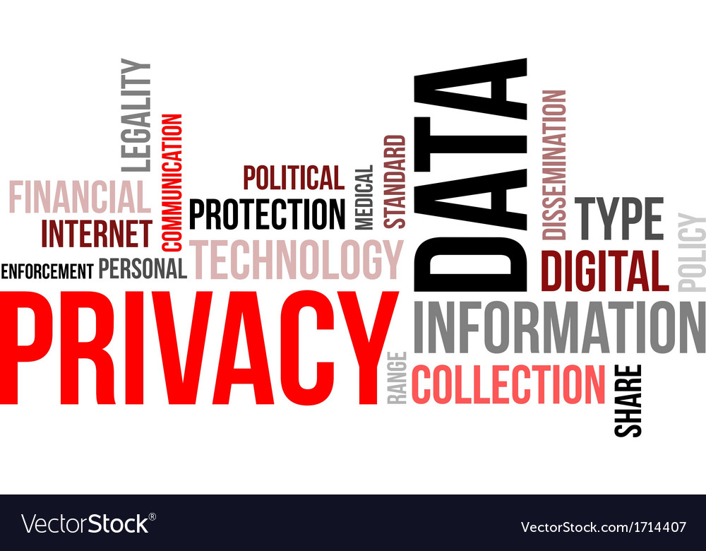 Word cloud data privacy vector | Price: 1 Credit (USD $1)