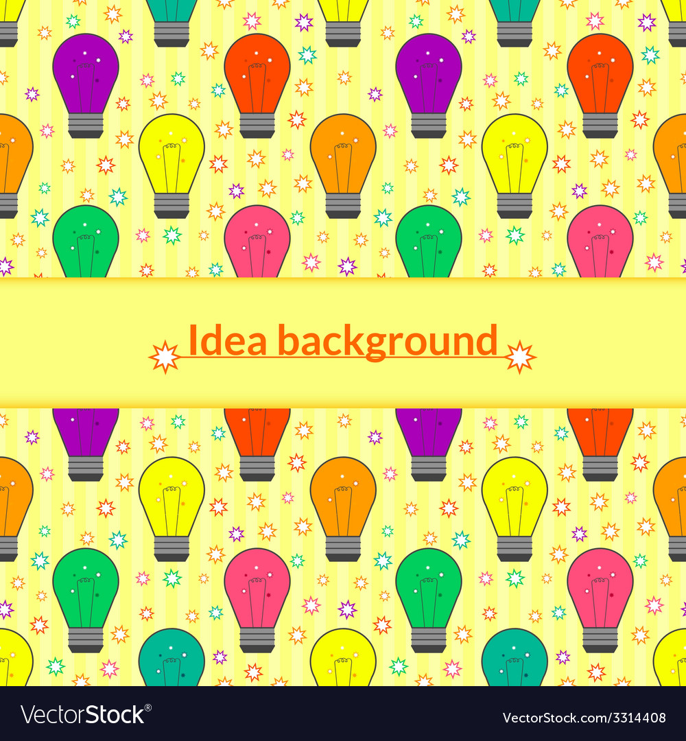 Background with light bulb in flat style vector | Price: 1 Credit (USD $1)