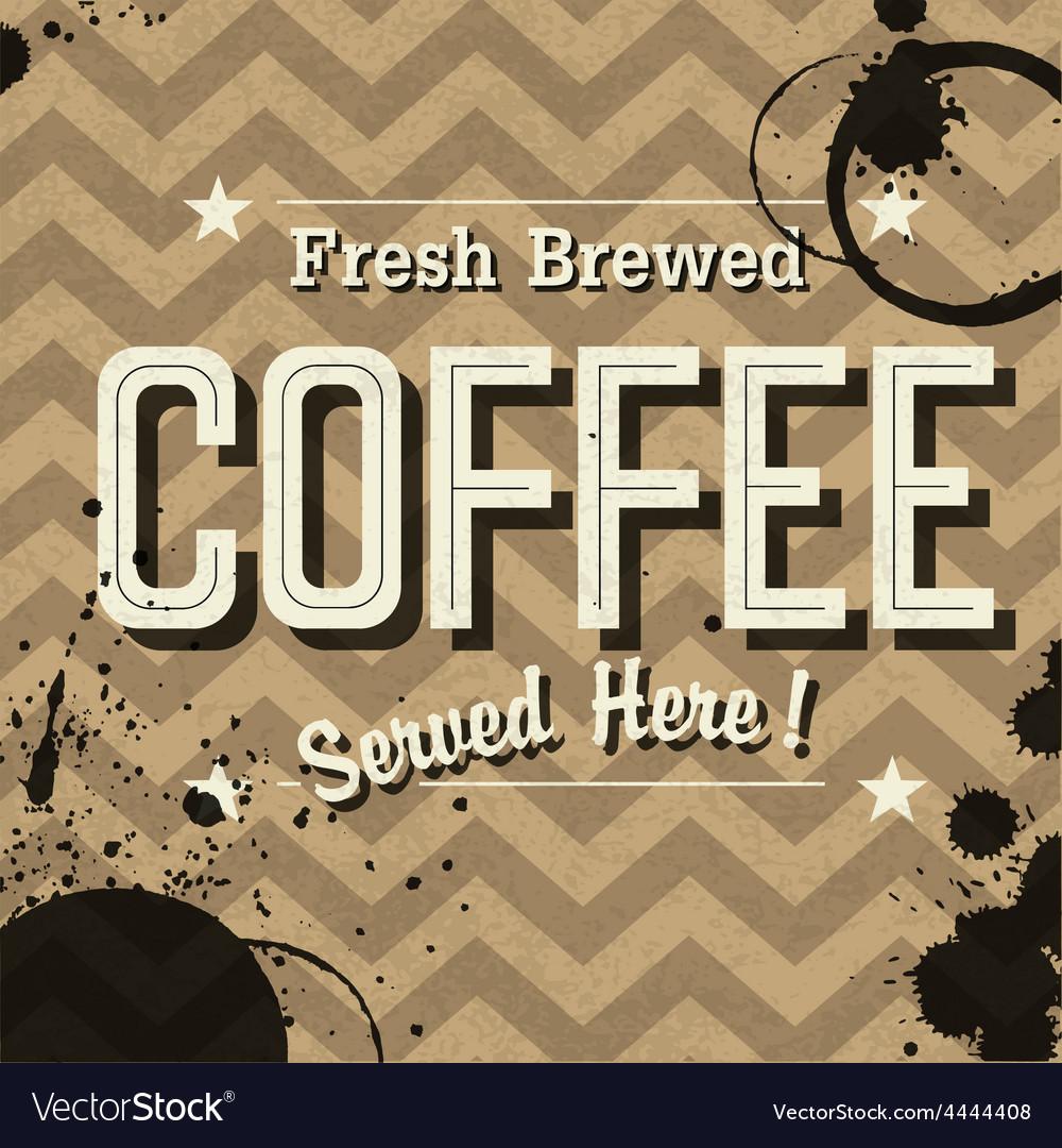 Grunge coffee card vector | Price: 1 Credit (USD $1)