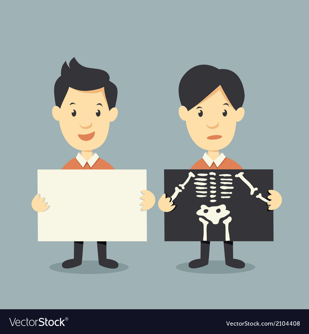 Holding paper and x ray check bones vector | Price: 1 Credit (USD $1)