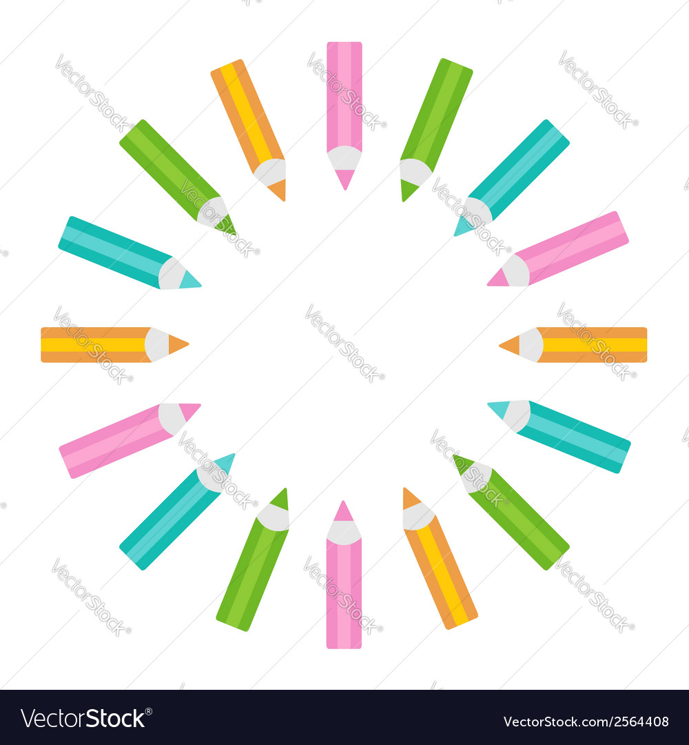 Pencil round frame isolated template vector   Price: 1 Credit (USD $1)