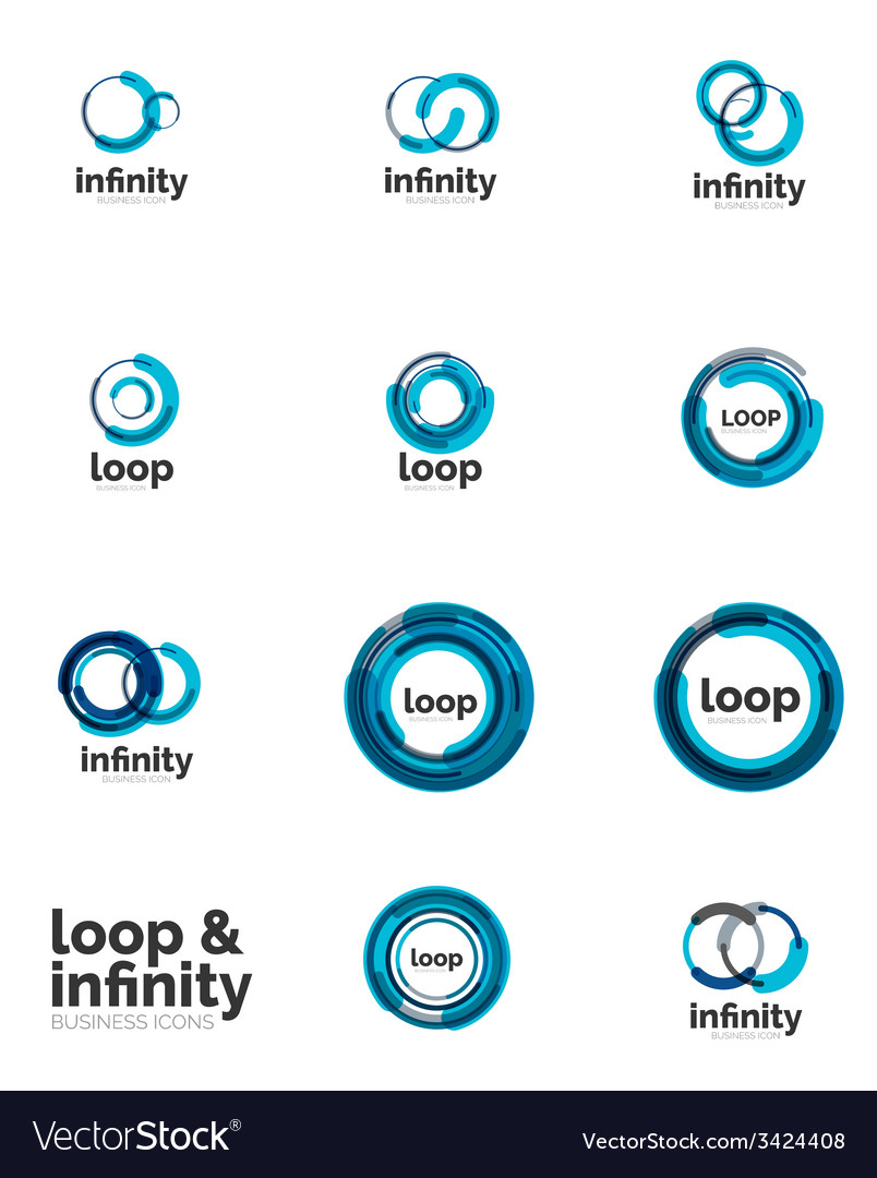 Set of infinity and loop business logos vector | Price: 1 Credit (USD $1)