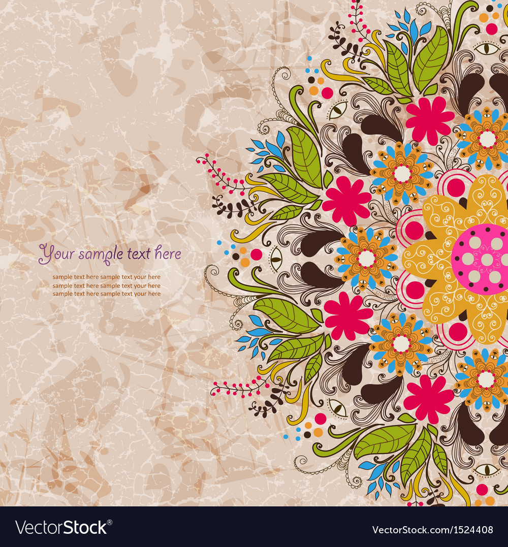 Vintage invitation card on grunge background vector | Price: 1 Credit (USD $1)