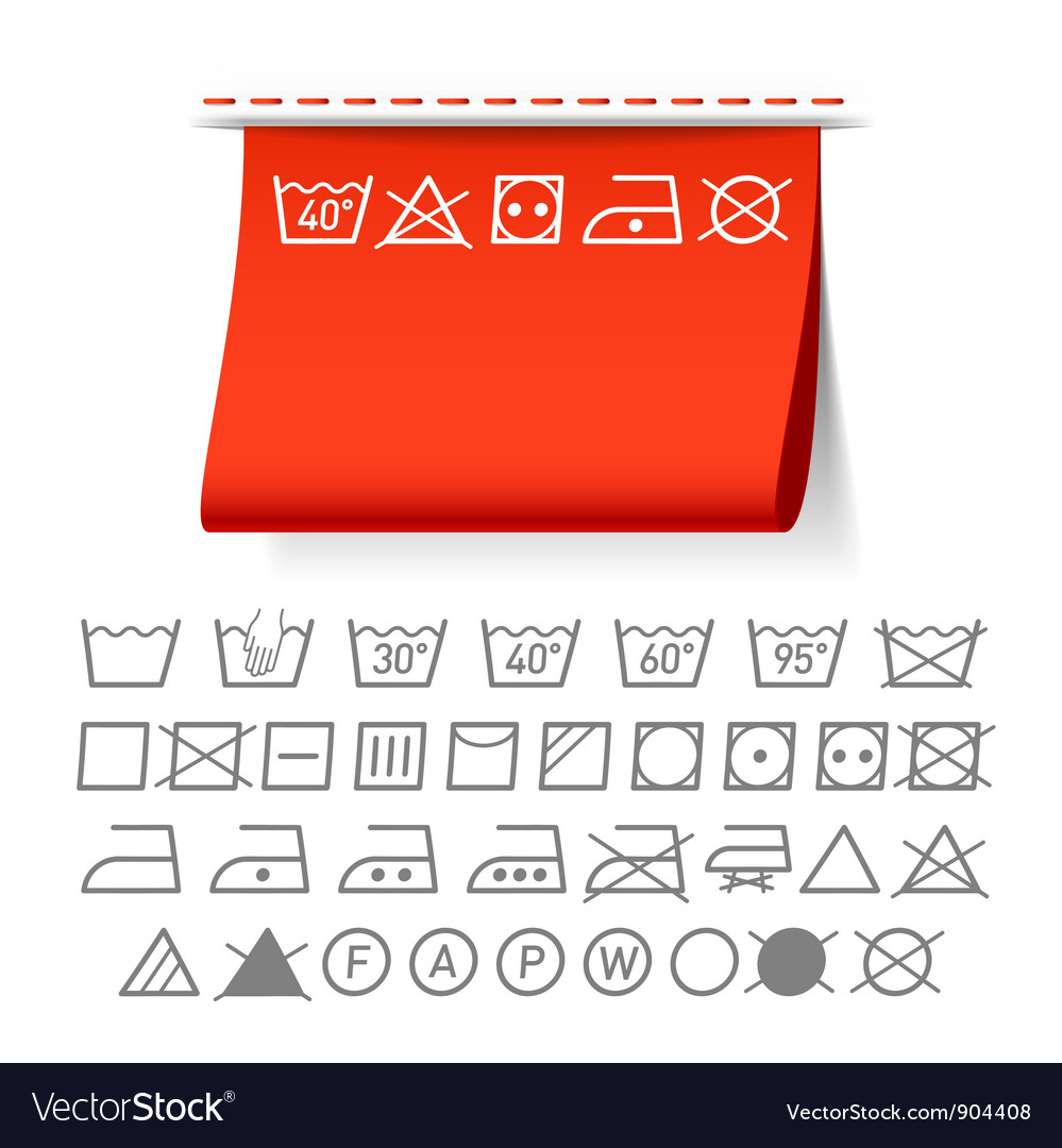 Washing symbols vector | Price: 3 Credit (USD $3)