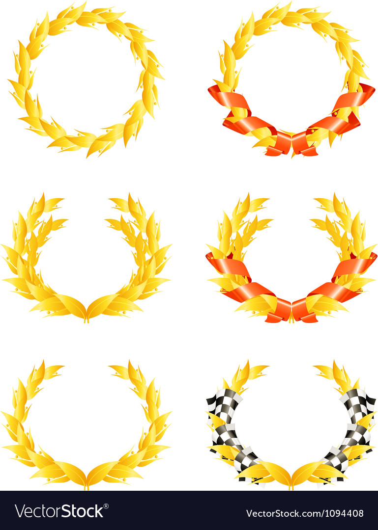 Wreaths set vector | Price: 1 Credit (USD $1)