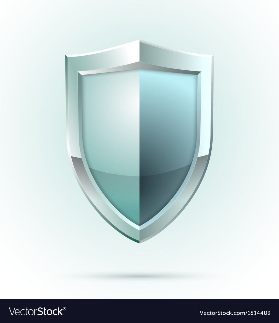 Blank shield security icon vector | Price: 1 Credit (USD $1)