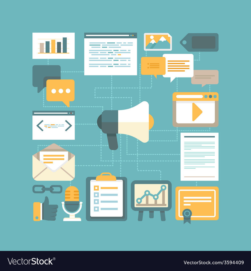 Content marketing concept vector | Price: 1 Credit (USD $1)