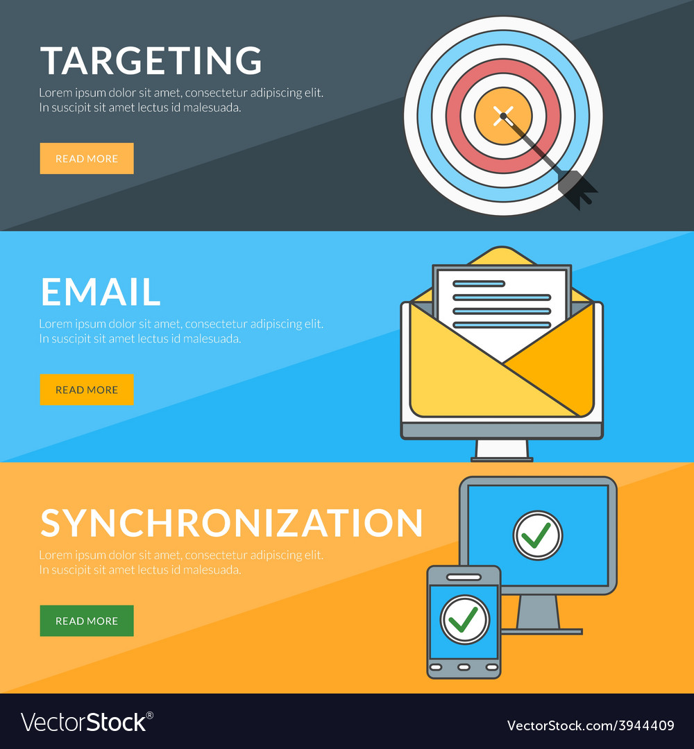 Flat design concept for targeting email vector | Price: 1 Credit (USD $1)
