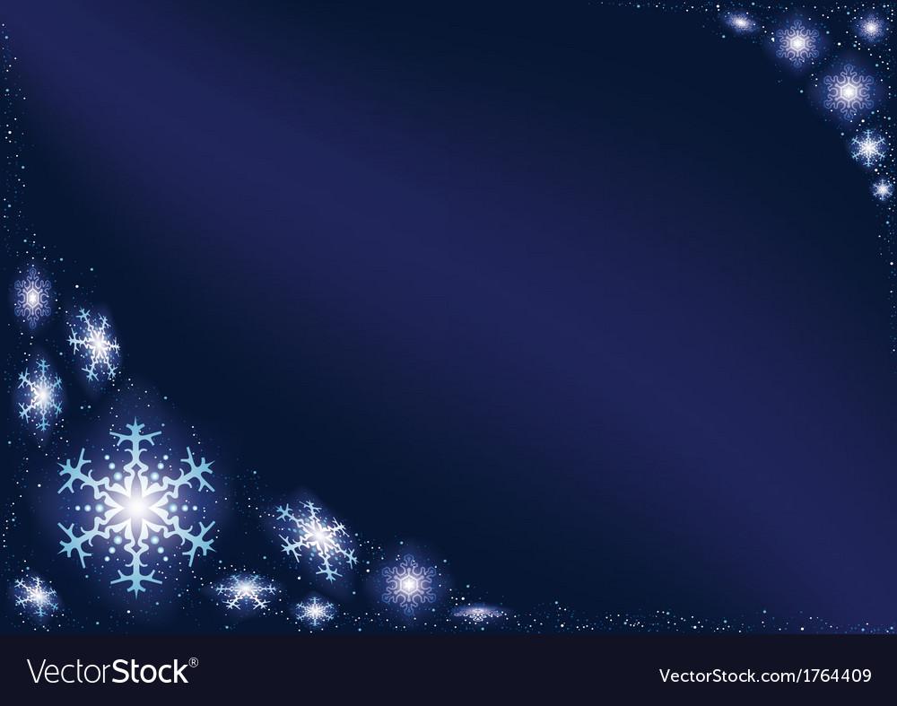 Glowing snowflakes vector | Price: 1 Credit (USD $1)