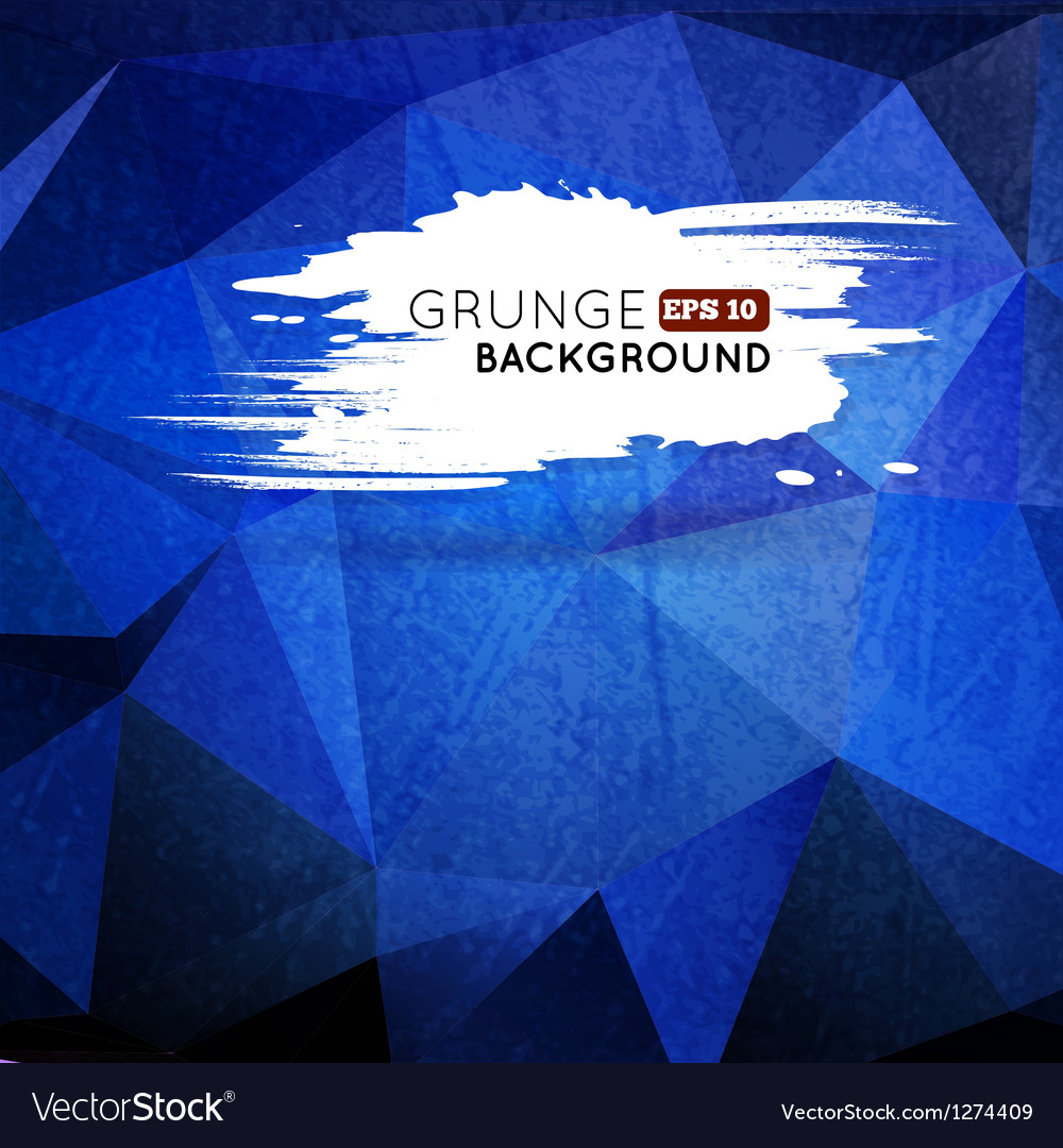Grunge blue background with splash banner vector | Price: 1 Credit (USD $1)
