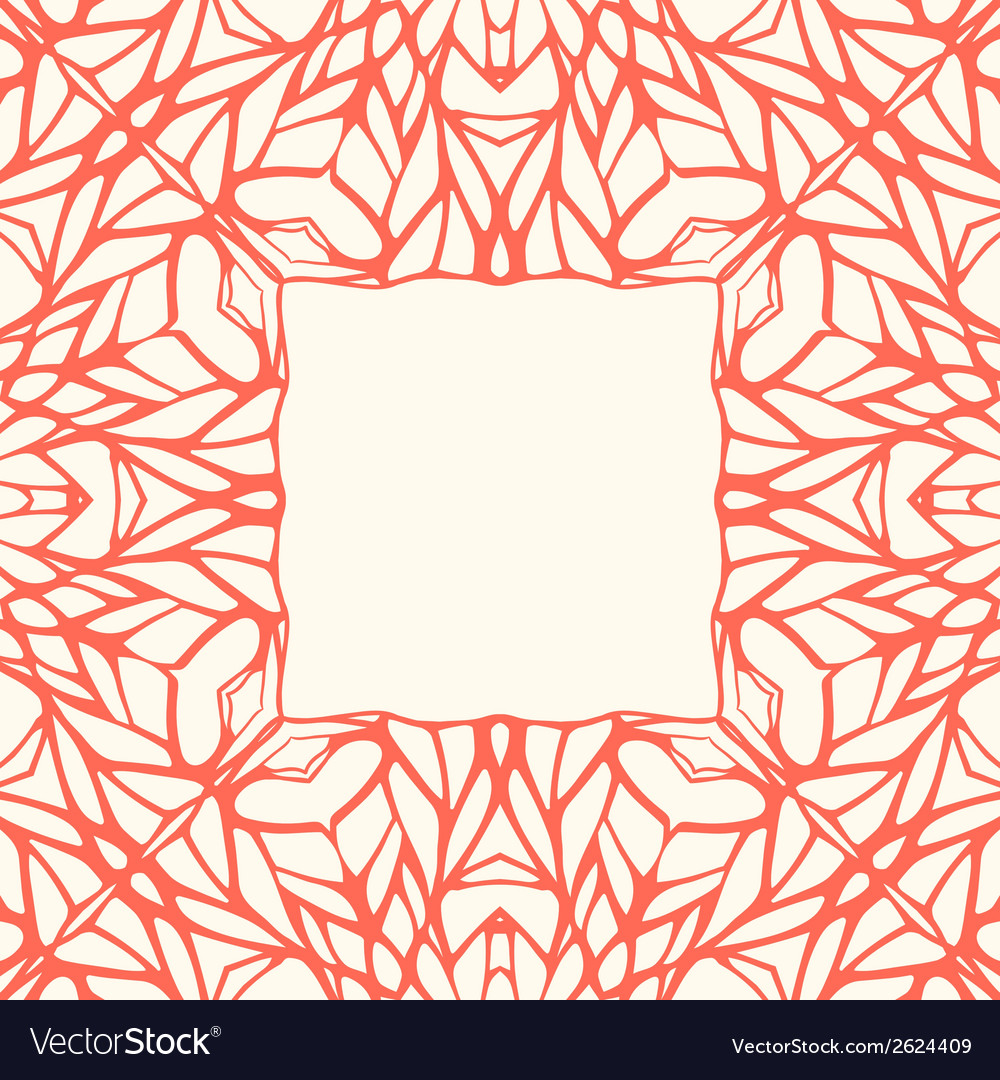 Mosaic square ornamental frame abstract background vector | Price: 1 Credit (USD $1)