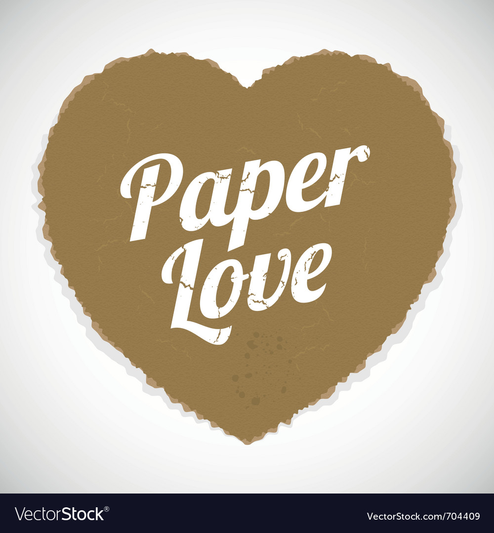 Paper love vector | Price: 1 Credit (USD $1)