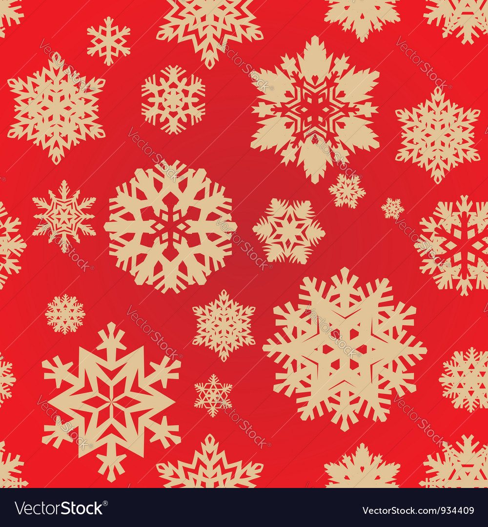 Seamless snowflakes background vector | Price: 1 Credit (USD $1)