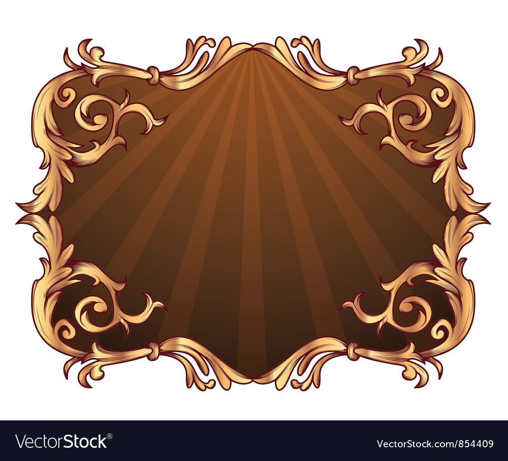 Vintage gold floral frame vector   Price: 1 Credit (USD $1)
