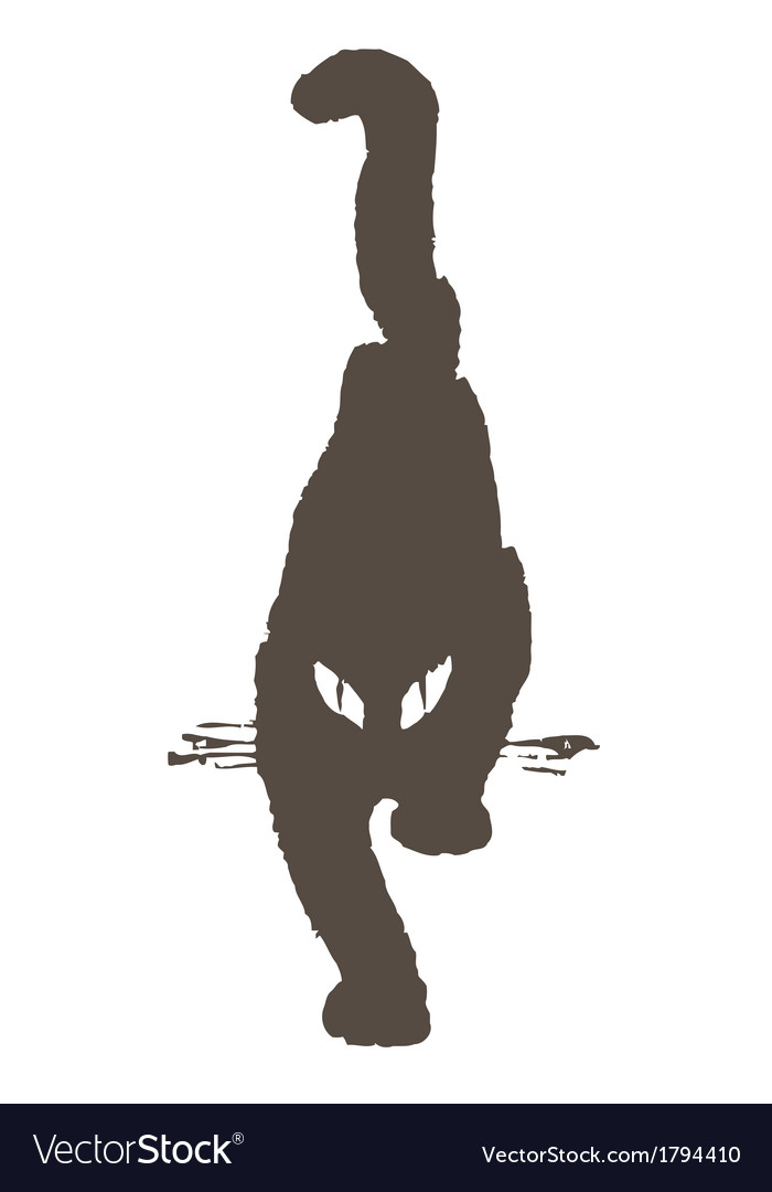 Black cat comes sneaking gait vector | Price: 1 Credit (USD $1)
