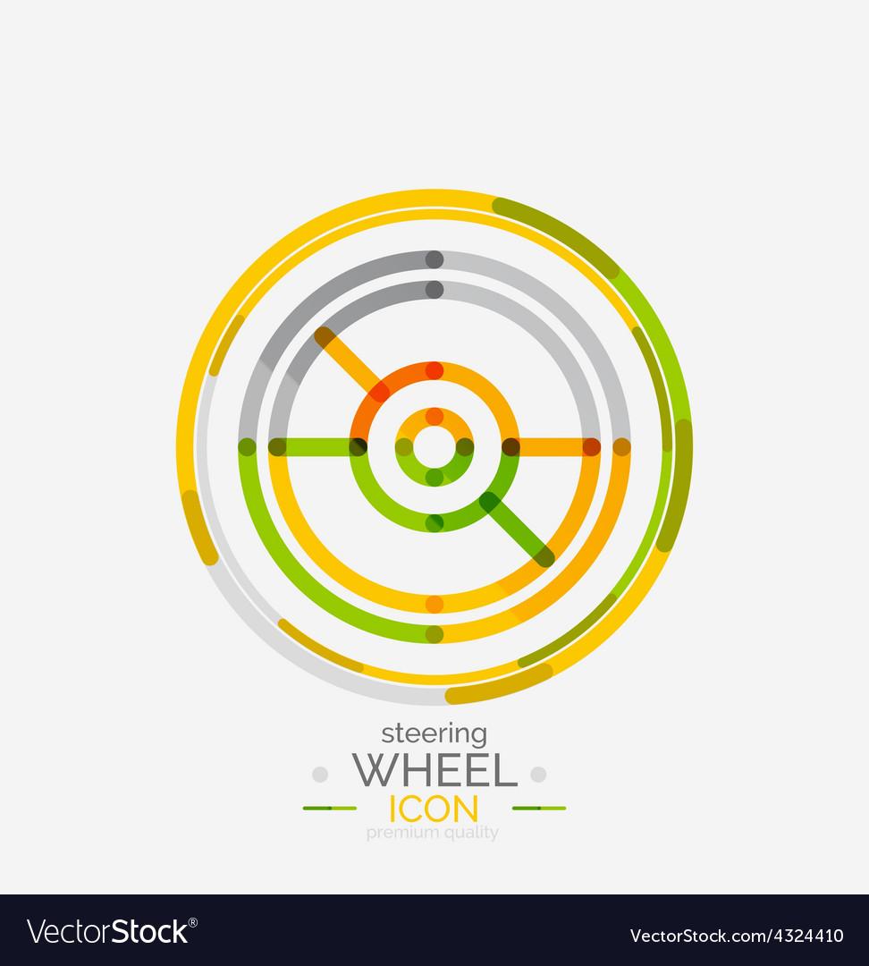 Car steering wheel icon vector | Price: 1 Credit (USD $1)