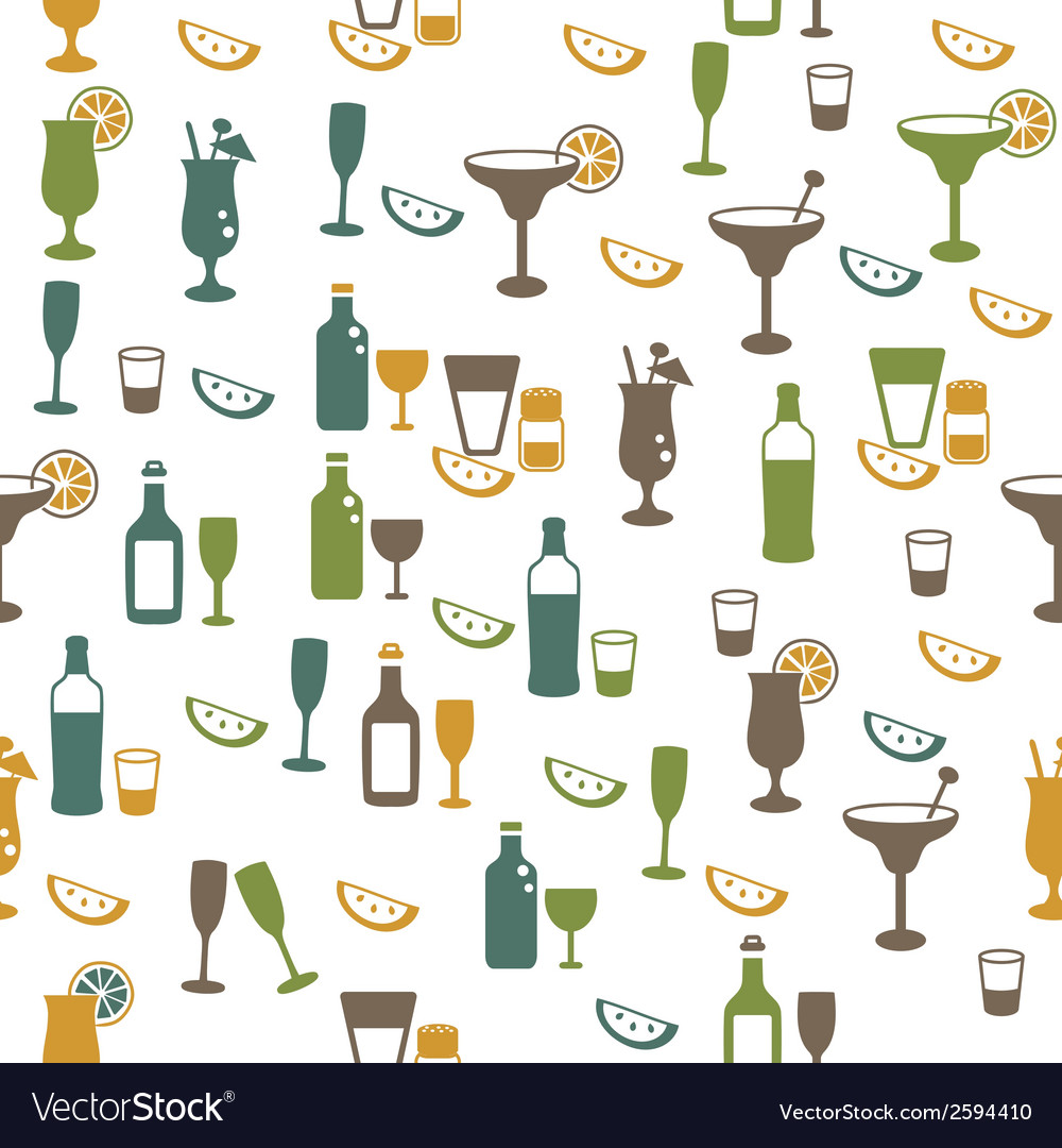 Drinks seamless pattern vector | Price: 1 Credit (USD $1)