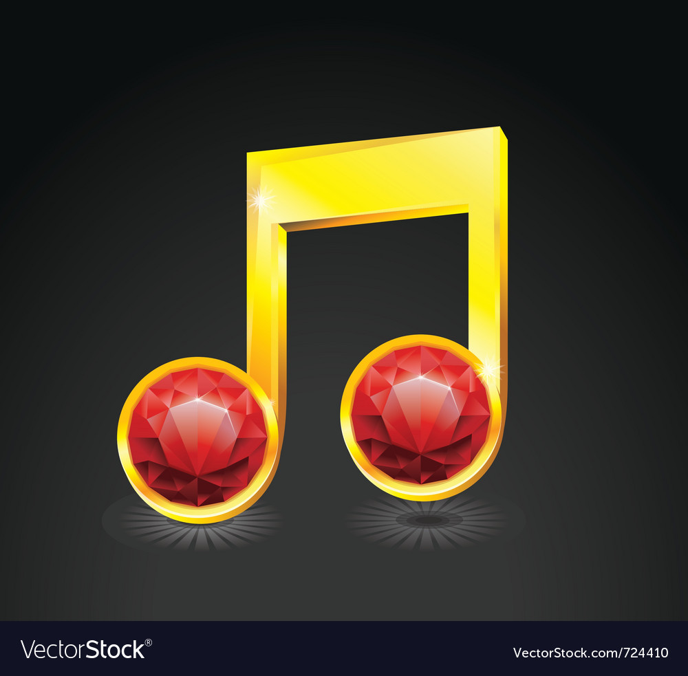 Music note vector | Price: 3 Credit (USD $3)
