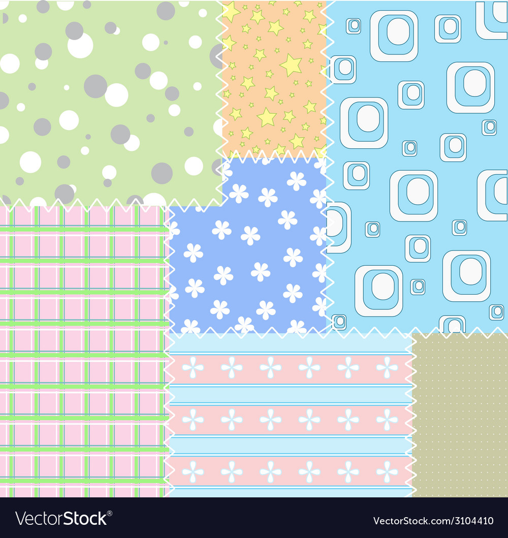 Patchwork background vector | Price: 1 Credit (USD $1)