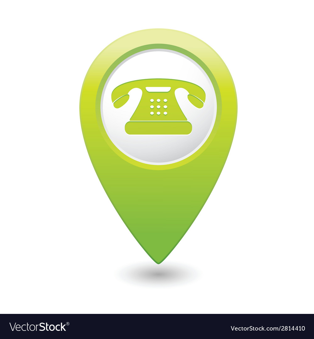 Phone icon green pointer vector | Price: 1 Credit (USD $1)
